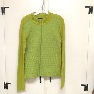 Pierri New York Lime Green Zipper Cardigan